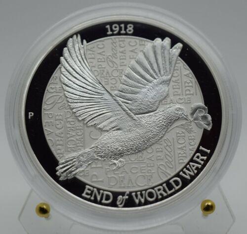 2018 Australia End of WWI Piedfort Dove 2 Oz Silver Coin