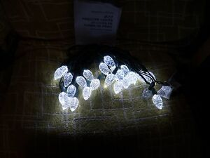 25-CT-LED-CLEAR-PINECONE-PLUG-IN-STRING-LIGHTS-WEATHER-RESISTANT-16-67-FT-NIB