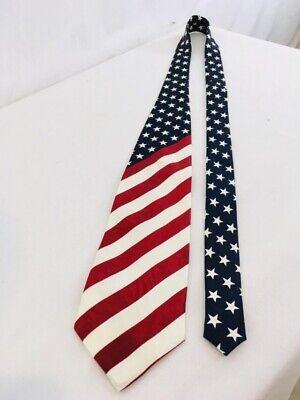 Collectible Patriotic Novelty Mens Constitution American Flag Necktie Tie