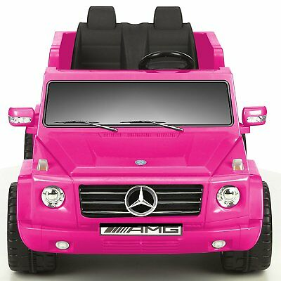 Kid Motorz Mercedes Benz G55 AMG 12 V Electric Ride On Two Seater In Pink with S