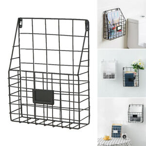 Home-Decoration-Iron-Basket-Accessory-Shelf-Organizer-Wall-Mounted-Storage-Rack