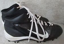 Nike Alpha Speed Shark Boys Football Lacrosse Cleats 442420-011 Blk/Wht Size 6Y