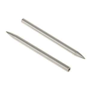 2 Pcs   Needle Fid Stainless Steel Bracelet Braiding Tool 78mm Silver