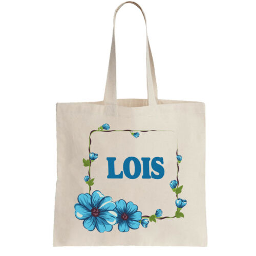 Lois Ladies Personalised Shopping Bag Tote can amend to ANY NAME Shopper Girls