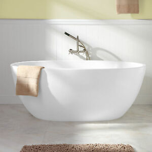 Freestanding Tub With Faucet Holes. Stock photo Signature Hardware 59  Keren Acrylic Freestanding Tub No Faucet