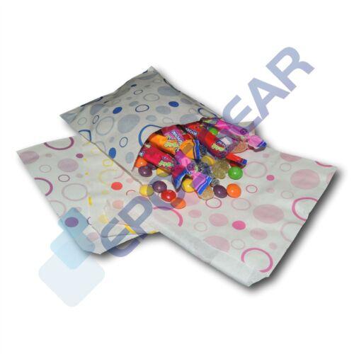 "100 mixte 5/"" x 5/"" bonbons sacs en papier sweet buffet gift shop party panier mariage"