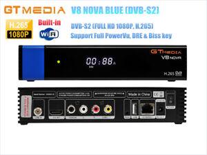 Details about GTMEDIA V8 NOVA Blue DVB-S2 Satellite Receiver,PowerVu,Biss  key H 265,Built WiFi