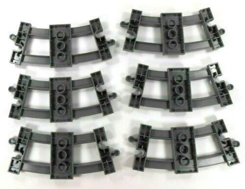 Curved Dark Gray 6 Lego Duplo Train Track