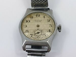 Vintage-Services-Airman-4-Jewels-Gentleman-039-s-Wrist-Watch-for-Repair-Services
