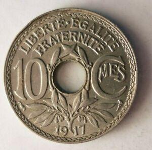 1917-France-10-CENTIMES-Key-Rare-Date-Coin-France-Bin-15
