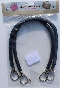 1-Paar-hochwertige-Taschengriffe-lederoptik-geflochten-dunkelblau-55cm