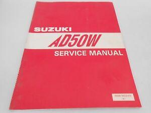 Genuine-Vintage-Suzuki-AD50-AD-50-Service-Manual-99500-10323-01E