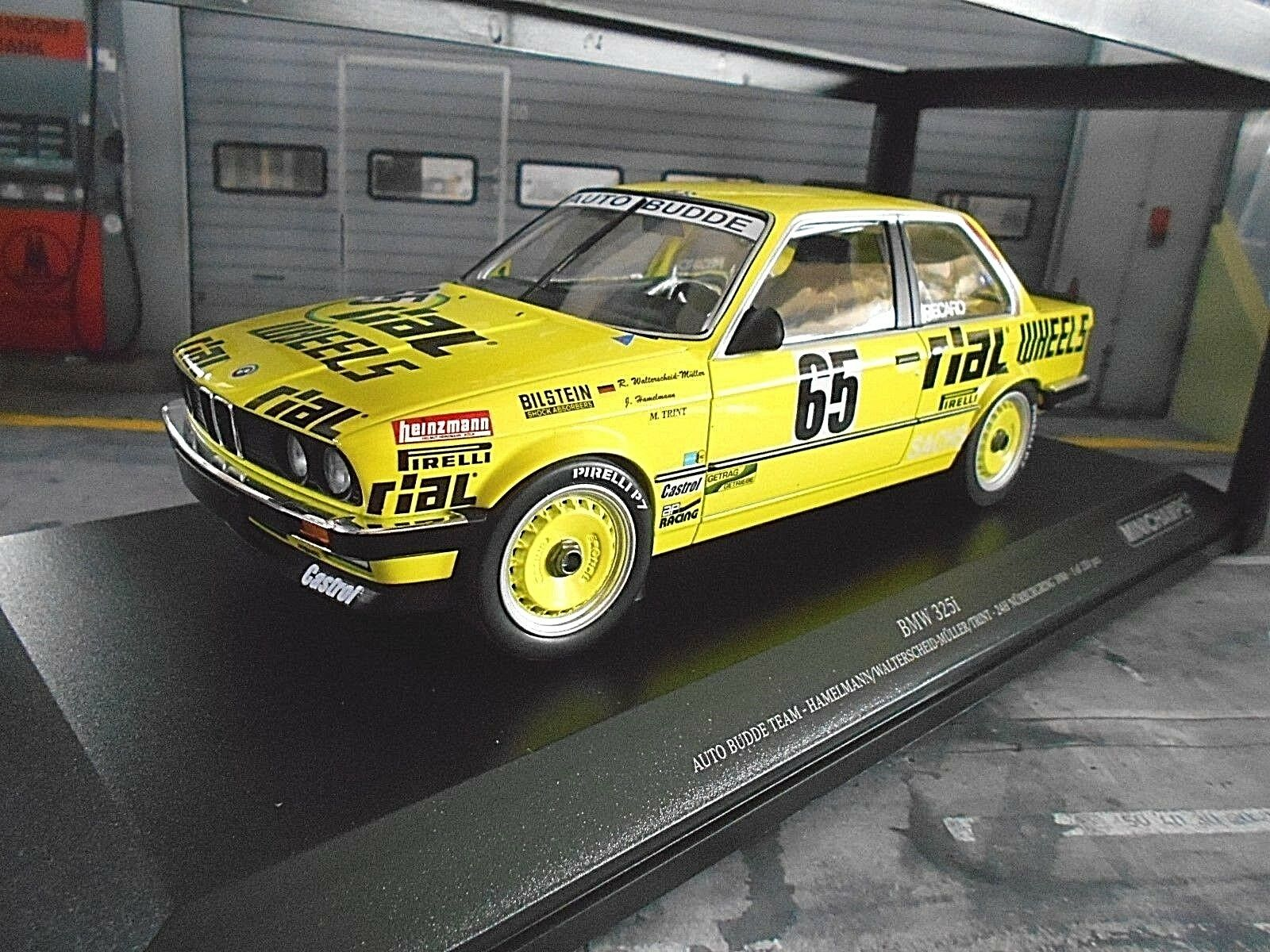 BMW 325i 3er e30 24 H Nurburgring Budde  65 hammelmann Trint 1986 Minichamps 1 18