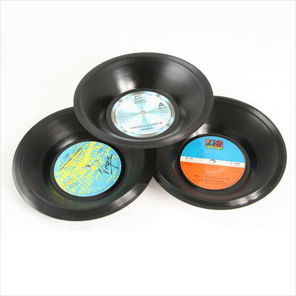 Neuheit Geschenk Spüle Spinning Hat Vinyl musikalisch Design Klein Küche Schale