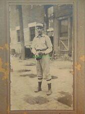 Baseball Photo CHARLES FLICK Minor League INDIANAPOLIS INDIANS Cabinet Card