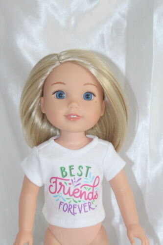 Best Friends T-Shirts fits Wellie Wishers 18inch American Girl Doll Clothes Lot