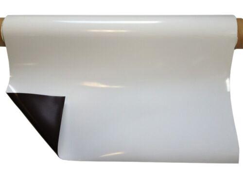 Magnetfolie weiß glänzend 0,8mm x 1m x 1,5m