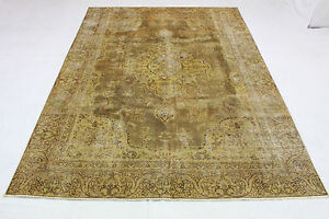 Vintage-Orient-Tapis-marron-curry-320x220-moderne-Used-Look-noue-a-la-main-3589