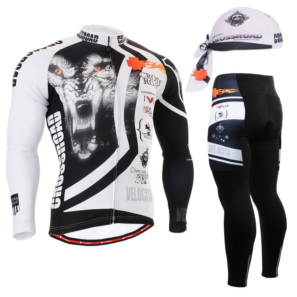 FIXGEAR CS-2201 SET Cycling Jersey & Padded Pants,MTB Bike,BMX,Beanie Free GIFT