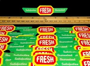 PACK-OF-100-MINI-4-1-2-034-FRESH-BANNERS-FOR-FOOD-DISPLAY-OR-CANDY-VENDING-MACHINE