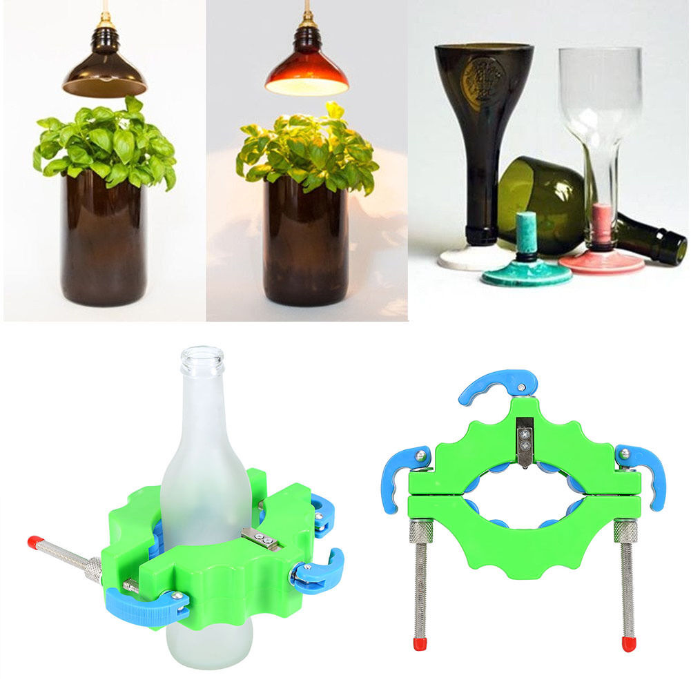Pro wine bottle cutters machine beer cutting diy recycle for How to use a glass cutter on a bottle