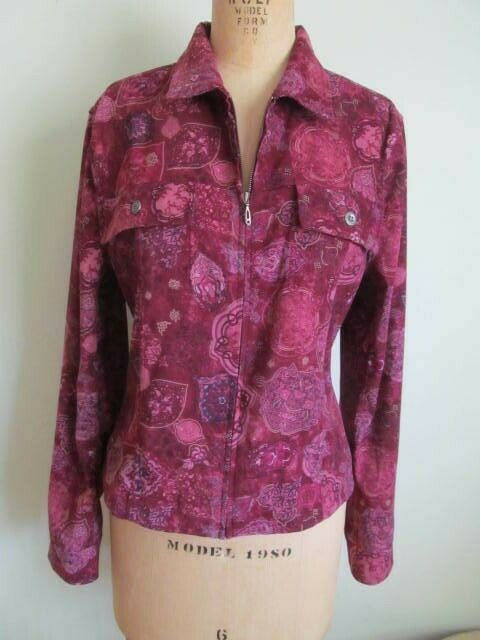 Christopher Bank's Women's Red Jacket Burgundy Fl… - image 1