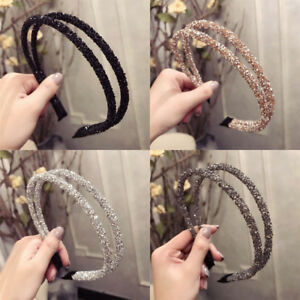 Women-039-s-Two-Layer-Crystal-Headband-Hair-Band-Hair-Hoop-Accessories-Gifts-Party