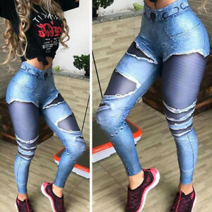 9ee3b664dc3a80 Image is loading Fashion-Women-039-s-Workout-Leggings-Fitness-Sports-