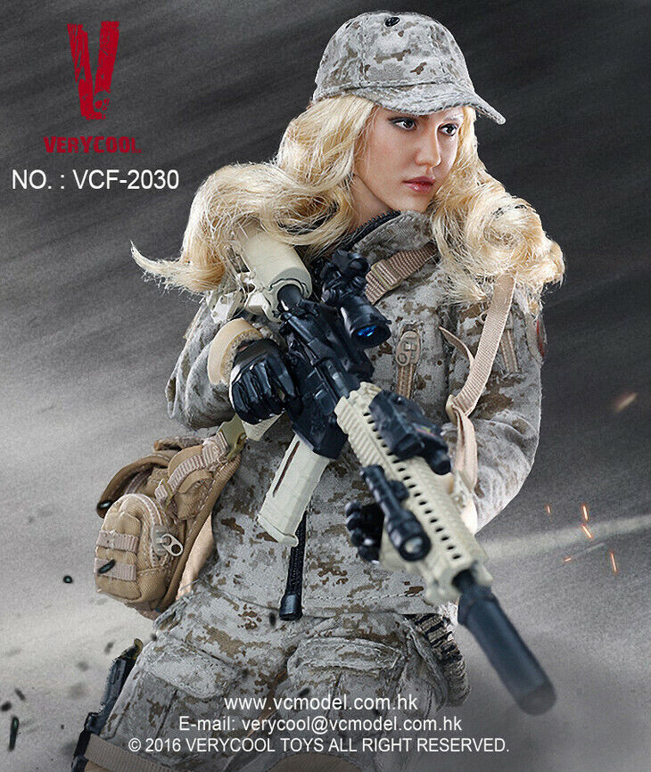 VERYCOOL 1 6 scale Digital Camouflage Women Soldier Max VCF-2030 Jessica Alba