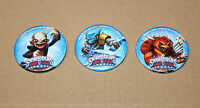 3 x Skylanders Trap Team promo Badge / Pin gamescom