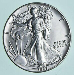 1987-American-Silver-Eagle-1-Troy-Oz-999-Fine-Silver-Brilliant-Uncirculated-BU