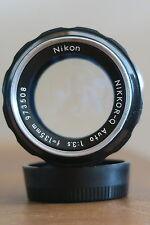 Nikon Nikkor Q Auto 135mm 1:3 .5 un obiettivo zoom VINTAGE CLASSIC nella ex-COND & Cornice
