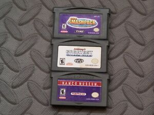 Lot Nintendo Game Boy Advance GBA Games Smashpack + Midway Arcade + Namco