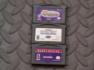 Lot Nintendo Game Boy Advance GBA Games Smashpack + Midway Arcade + Namco