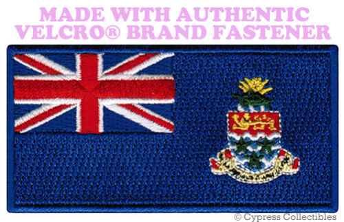CAYMAN ISLANDS FLAG PATCH CARIBBEAN EMBROIDERED new w// VELCRO® Brand Fastener
