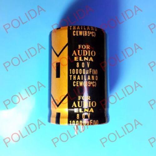 35*50mm 10000UF80V//80V10000UF 1PCS ELNA AUDIO Electrolytic Capacitor size