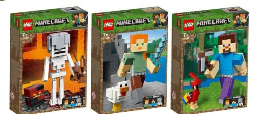 LEGO ® Minecraft ™ 21150 21149 21148 bigfig Alex Steve Squelette n2/19