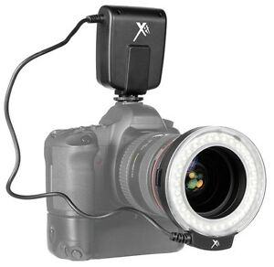 Pro Series LED Macro Ring Light & Flash for Canon EOS Rebel T6 80D 70D