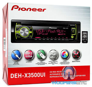 PIONEER-DEH-X3500UI-CD-MP3-WMA-PANDORA-IPOD-USB-AUX-SD-EQUALIZER-200W-CAR-STEREO