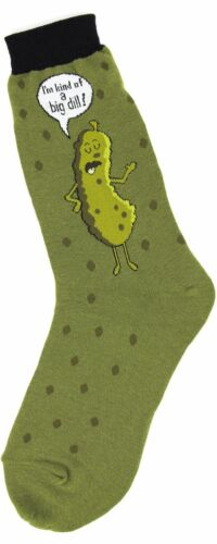 Foot Traffic Cotton Green I am Kind of a Big Dill Pickle Women/'s Crew Socks New