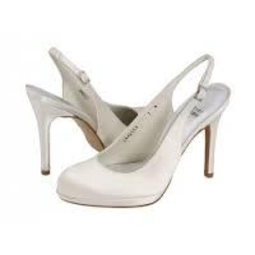 Stuart Weitzman longside marfil marfil marfil satinado Slingback Zapatos Tacones Sandalias De Novia 10  de moda