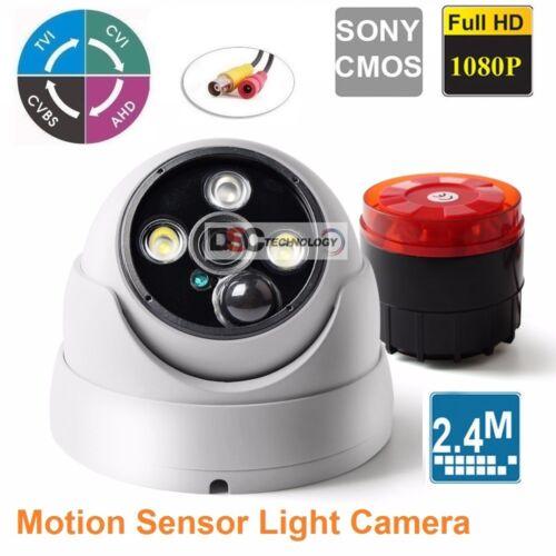 ALL-in-One Soultion Alarm Siren Dome Camera Camera 12VDC BNC CVI//TVI//AHD//CVBS