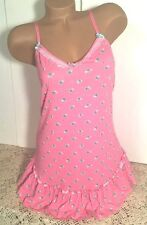 BETSEY JOHNSON PINK MINT GREEN FLORAL MEDIUM CHEMISE BABYDOLL PAJAMA LINGERIE