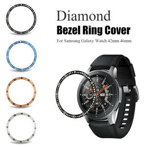 Time-Dial-Diamond-Metal-Bezel-Ring-Shell-Cover-For-Samsung-Galaxy-Watch-42-46mm