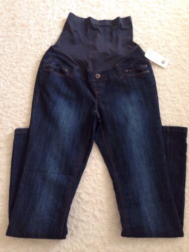 THYME Comfy Navy Blue Maternity Mother Elastic Waist Pants Size S//P NWT