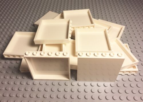 Lego 50 Pieces New Bulk Lot White Panel 1x6x5 Wall Parts
