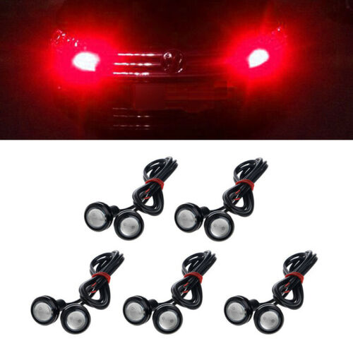 10Pcs 9W 12V Eagle Eye LED Car Fog Light DRL Reverse Backup Lamp Tail Lights Red