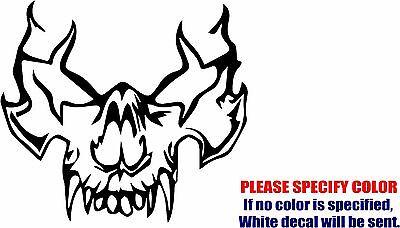 """Vampire Skull Decal Sticker JDM Funny Vinyl Car Window Bumper Truck Laptop 9/"""""""
