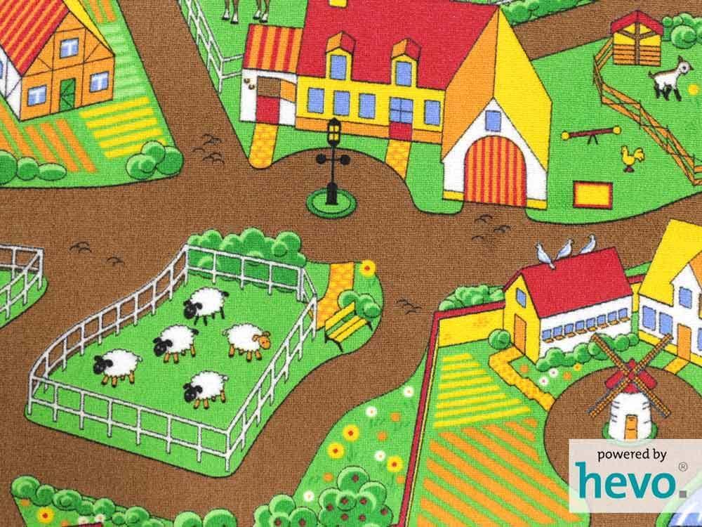 Mein Dorf HEVO ® Teppich Teppich Teppich   Kinderteppich   Spielteppich 200x300 cm | Erste Kunden Eine Vollständige Palette Von Spezifikationen  877a1a