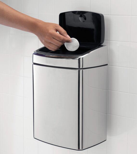 BRABANTIA POUBELLE TACTILE encastrable 10 de salle bain acier inox mat